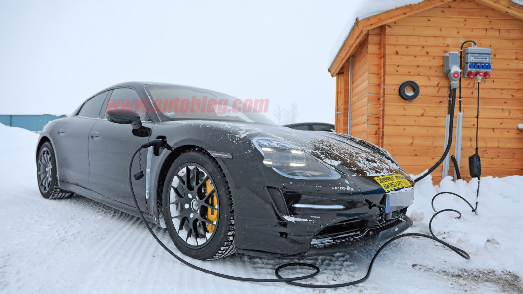 Porsche Taycan spied up-close with detailed shots in Arctic Circle testing
