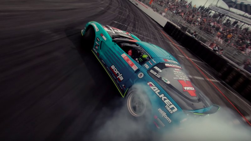 Watch this incredible Formula Drift drone footage in 4K