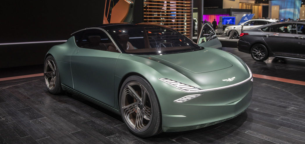 Genesis Mint is a minty-fresh luxury electric city coupe