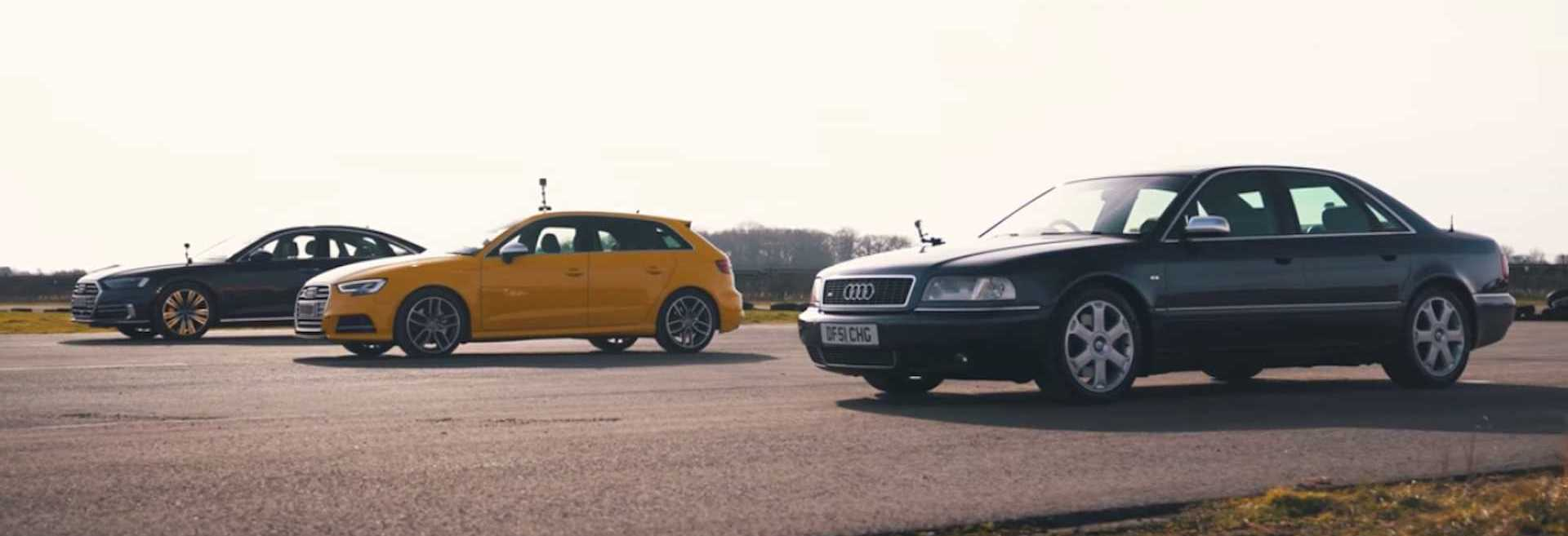 Old Audi S8 Drag Races Current A8 Diesel And S3