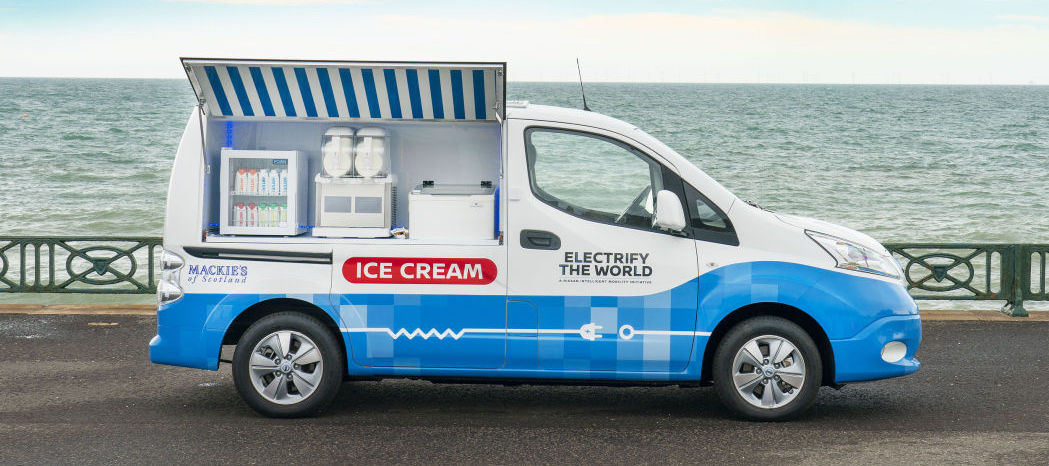 Nissan Has Served Up A Treat With This Electric Ice Cream Van