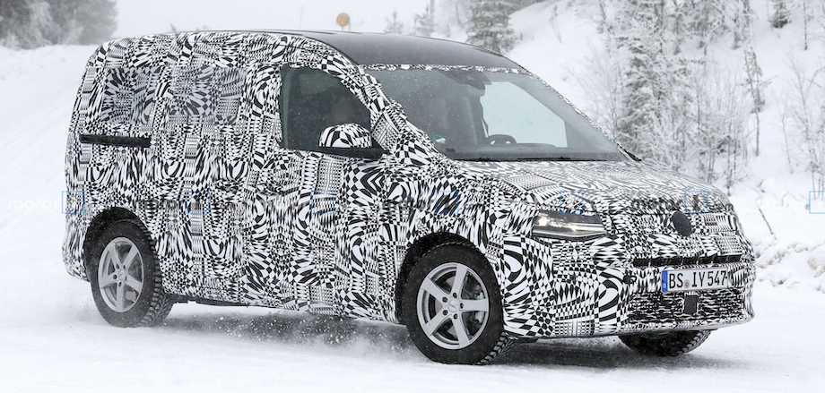 New VW Caddy Spied Shedding Some Camo