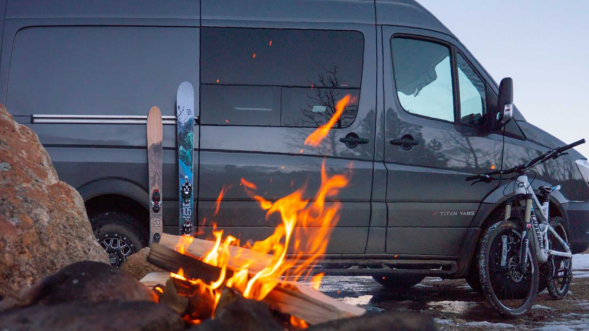 Modular Camper Van Is Perfect Base Camp With Ski-Surf Package