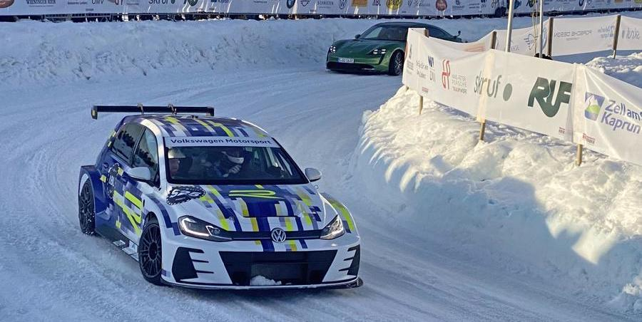 Electric Volkswagen Golf eR1 concept makes debut as ice racer