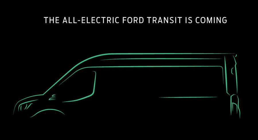 All-electric Ford Transit confirmed for launch in 2022