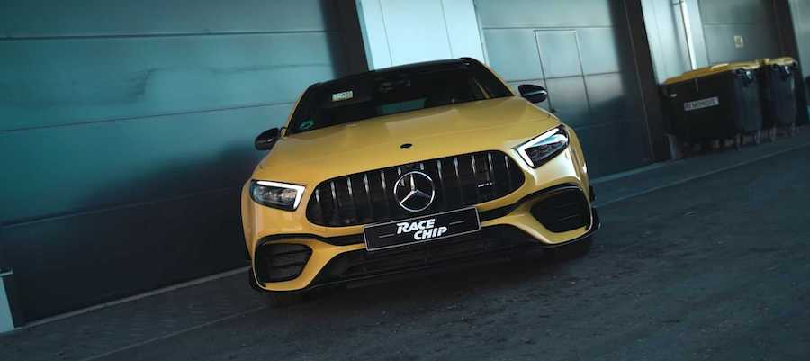 Mercedes-AMG A45 S Tuned To Nearly 500 HP Hits The Autobahn